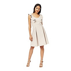 Miss Selfridge - Grey frill back flippy dress