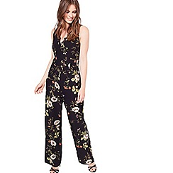 Miss Selfridge - Lace trim printed jumpsuit