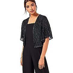 Miss Selfridge - Black embellished cover up