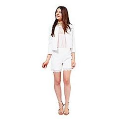 Miss Selfridge - White jacquard jacket