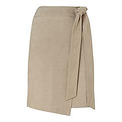 Miss Selfridge - Suede tie waist skirt