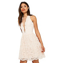 Miss Selfridge - Lace hem prom dress