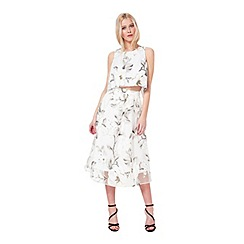 Miss Selfridge - Floral organza skirt