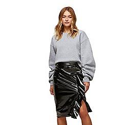 Miss Selfridge - Black vinyl skirt