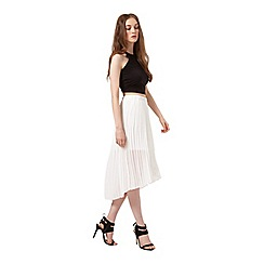 Miss Selfridge - White pleated skirt