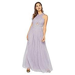 Miss Selfridge - Grey cross front maxi dress