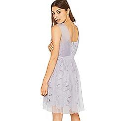 Miss Selfridge - Lilac lace mesh dress
