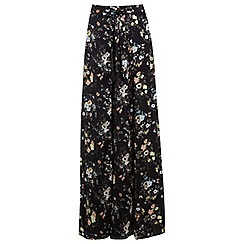 Miss Selfridge - Woodland print wrap maxi skirt