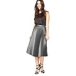 Miss Selfridge - Silver metallic skirt