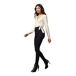 Miss Selfridge - Cream cashmere wrap cardi
