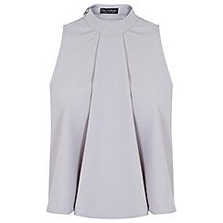 Miss Selfridge - Grey open back shell top