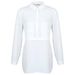 Miss Selfridge - White utility blouse