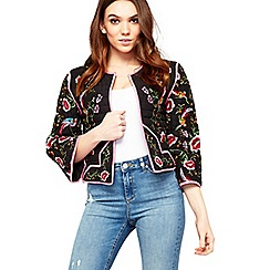 Miss Selfridge - Quilted embroidered jacket