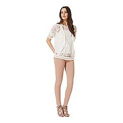 Miss Selfridge - White lace fringe top