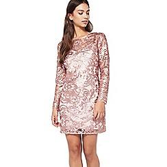 Miss Selfridge - Rose gold sequin mini dress