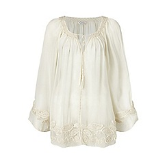 Miss Selfridge - Ivory gypsy blouse