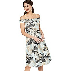 Miss Selfridge - Jacquard bardot prom dress
