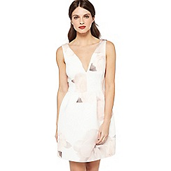 Miss Selfridge - Printed scuba prom dress