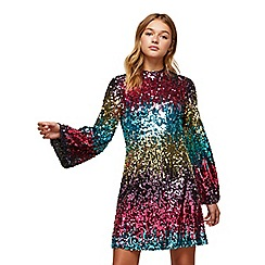 Miss Selfridge - Ombre flute sleeves dress