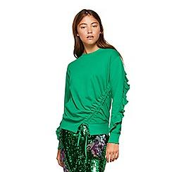 Miss Selfridge - Premium drawstring sweatshirt