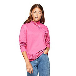 Miss Selfridge - Premium ruffle sweatshirt