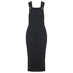 Miss Selfridge - Indigo denim midi pinny dress
