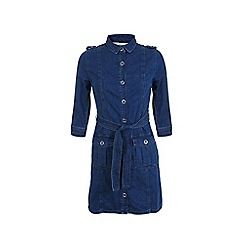 Miss Selfridge - Ring snap denim shirt dress