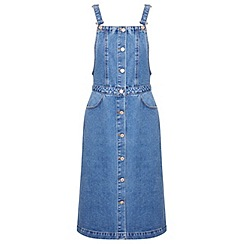 Miss Selfridge - Button through denim pinny