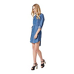 Miss Selfridge - Belted tencel shirt dress