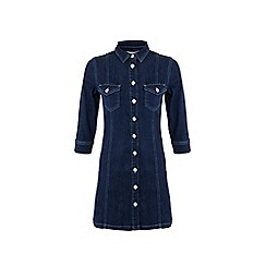 Miss Selfridge - Stretch denim shirt dress