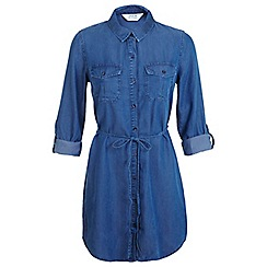 Miss Selfridge - Belted denim shirt dress