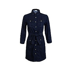 Miss Selfridge - Dark wash denim shirt dress