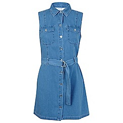 Miss Selfridge - Sleeveless utility denim dress