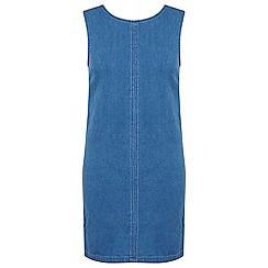 Miss Selfridge - Mid wash denim shift dress