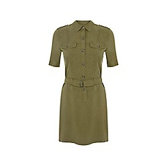 Miss Selfridge - Khaki super soft dress