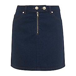 Miss Selfridge - Indigo denim a line skirt