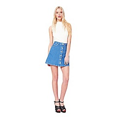 Miss Selfridge - Bright blue denim skirt