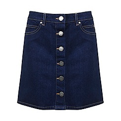 Miss Selfridge - Indigo button through denim sk