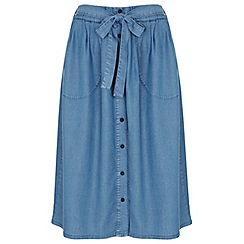 Miss Selfridge - Super soft denim skirt