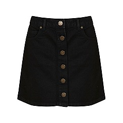 Miss Selfridge - Black ttn thru skirt