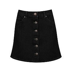 Miss Selfridge - Black denim skirt