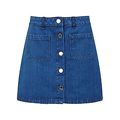 Miss Selfridge - Mid wash denim skirt