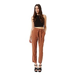 Miss Selfridge - Rust cargo trouser