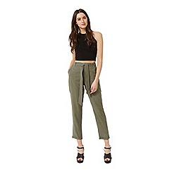 Miss Selfridge - Khaki cargo trouser