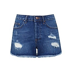 Miss Selfridge - Distressed denim shorts
