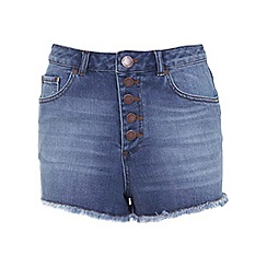 Miss Selfridge - Button fly denim short