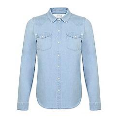 Miss Selfridge - Mid wash denim shirt