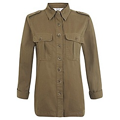 Miss Selfridge - Khaki utility overshirt