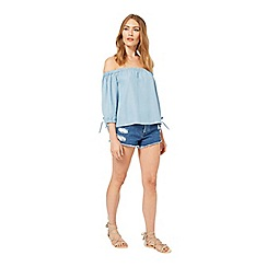 Miss Selfridge - Bardot supersoft denim top