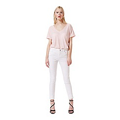 Miss Selfridge - Peach marl longline tee